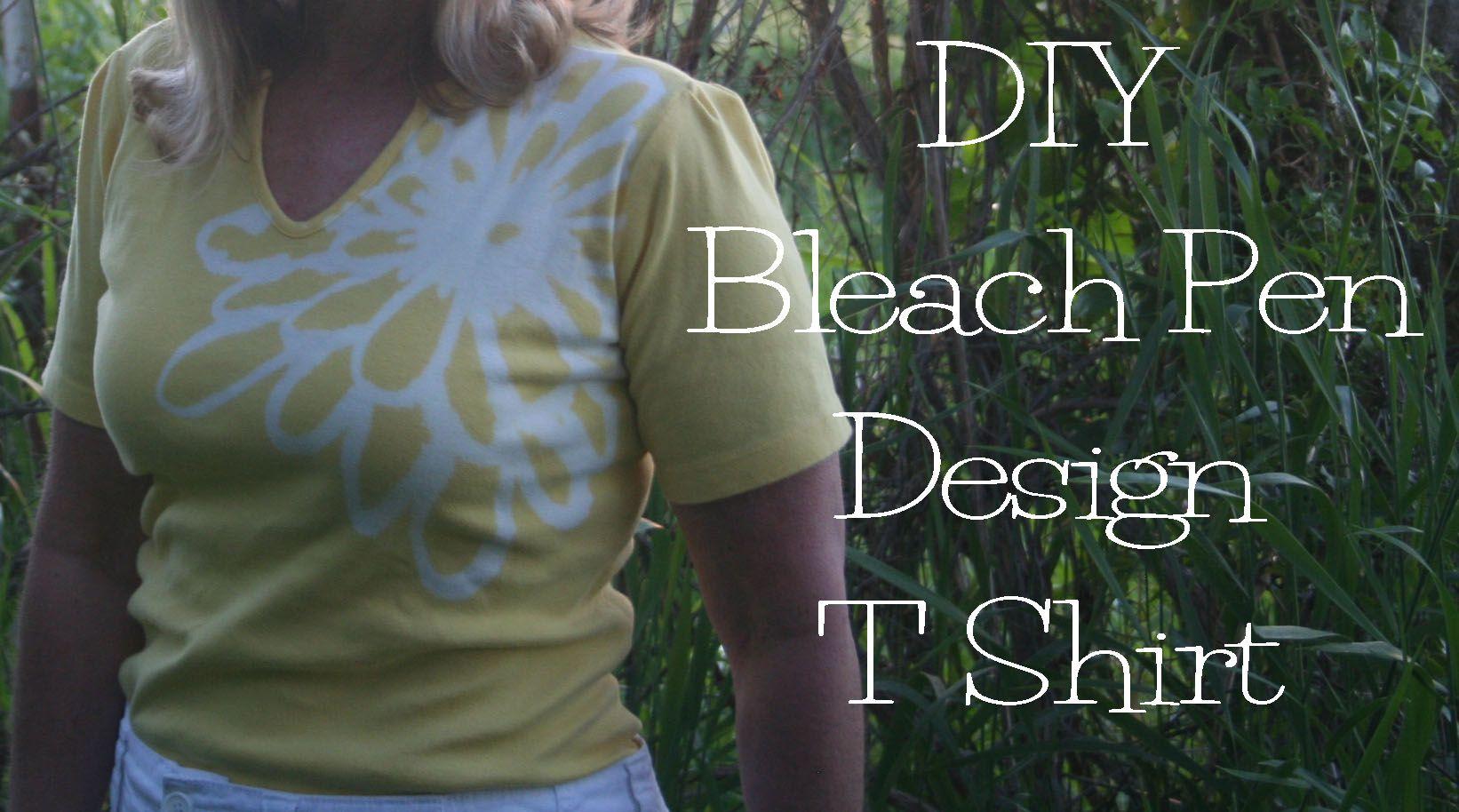 DIY Bleach Pen T Shirt Design | The Renegade Seamstress