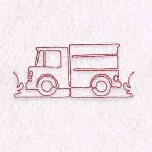 Free Embroidery Design: Transborder Truck