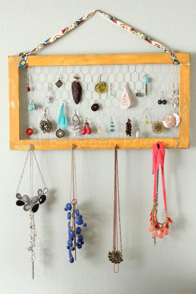 DIY Jewelry Organization | Bastelideen