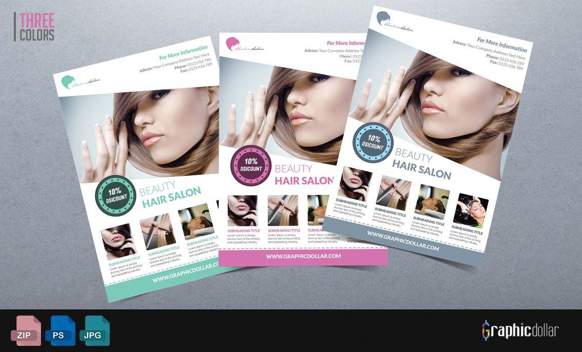 Beauty Salon Flyer Template Flyer templates Pinterest – Hair Salon Flyer Template