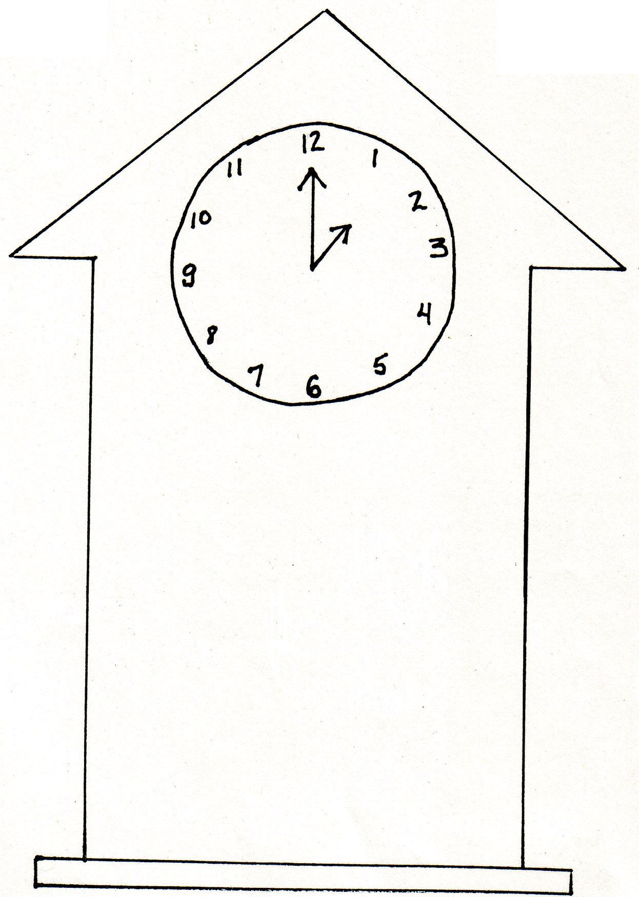 clock template january preschool winter arctic animals