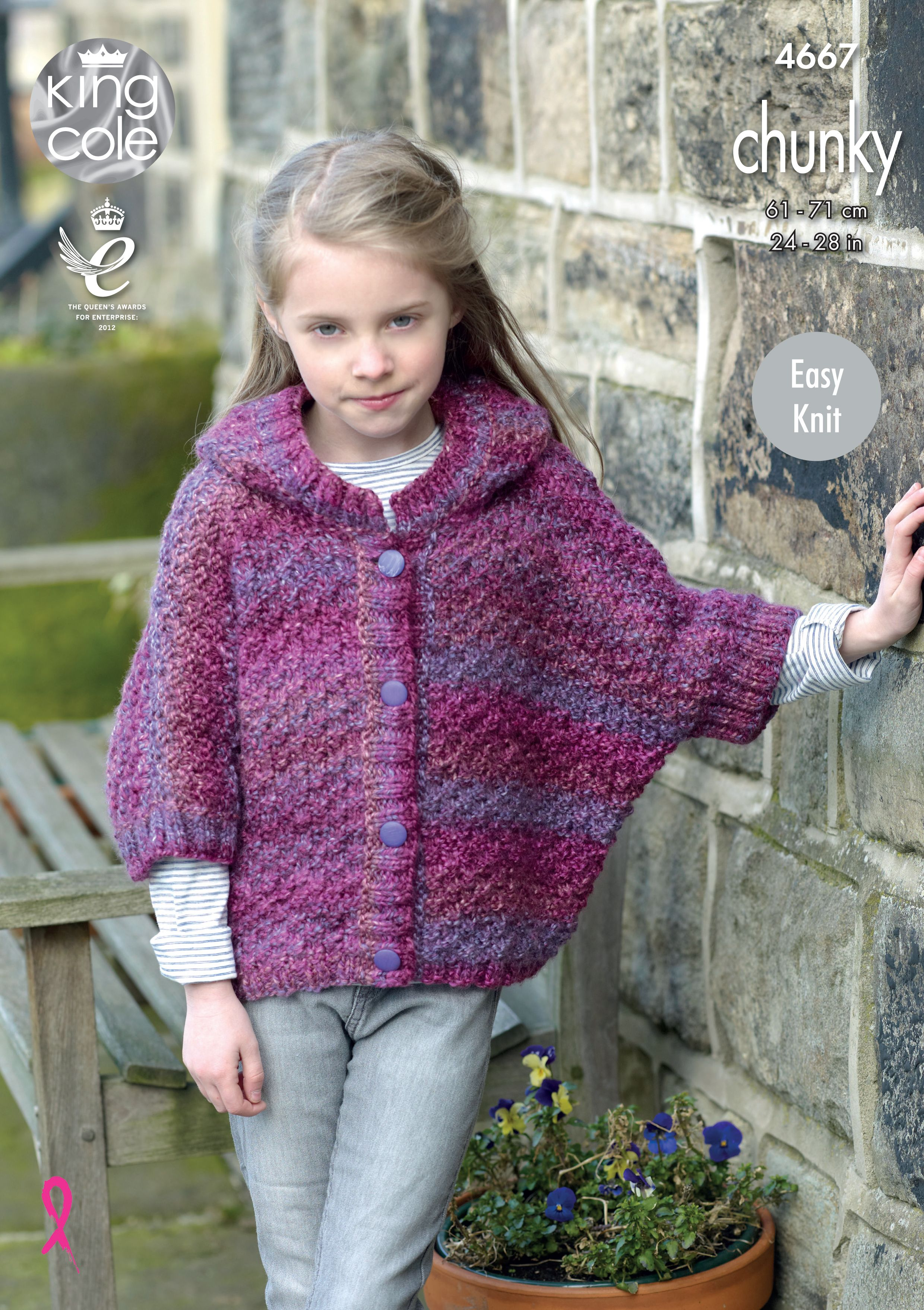 Ponchos Knitted in Corona Chunky - King Cole   bufandas   Pinterest ...