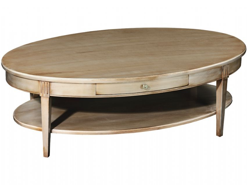 Coffee Tables Yellow Contemporary Pattern Varnished Wooden Oval