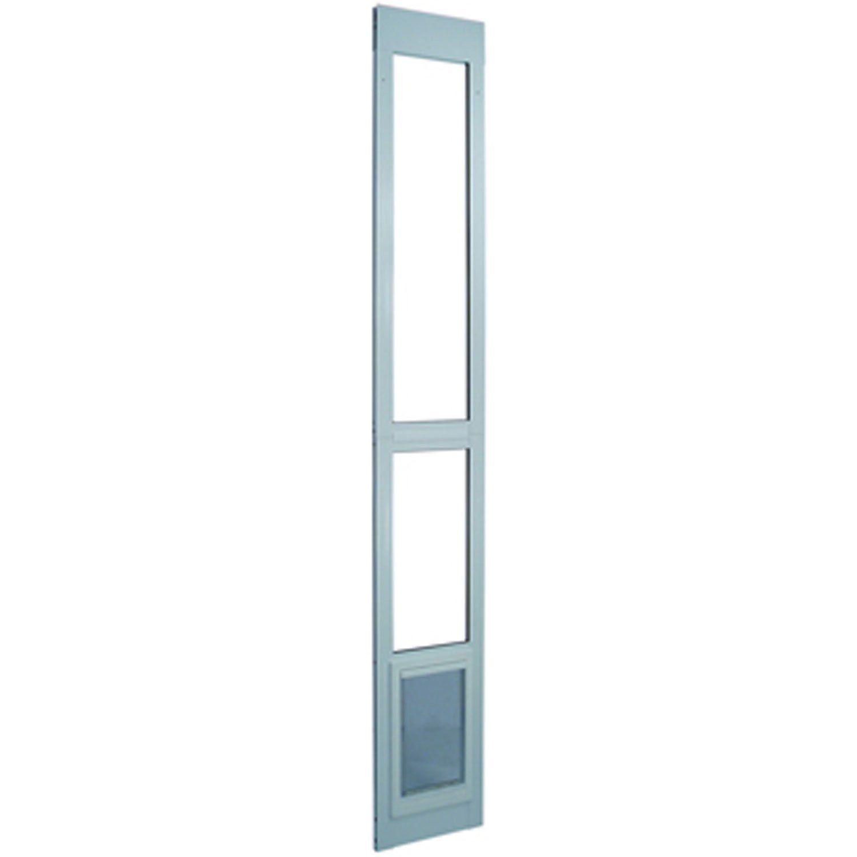 Perfect Pet Modular Patio Panel Pet Door In White 9 75in X 1 625in X 40 75in In 2019 Home Decorating Patio Doors Sliding Glass Door Sliding Glass Dog Do