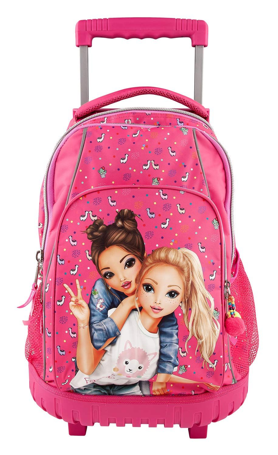 3b3e8c72095d8 Depesche 10360 School Rucksack Trolley Top Model Pink Trolley backpack with  two wheels and telescopic handle Design  TOPModel Main compartment