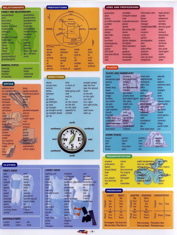 Learning Basic English Vocabulary And All Basic English