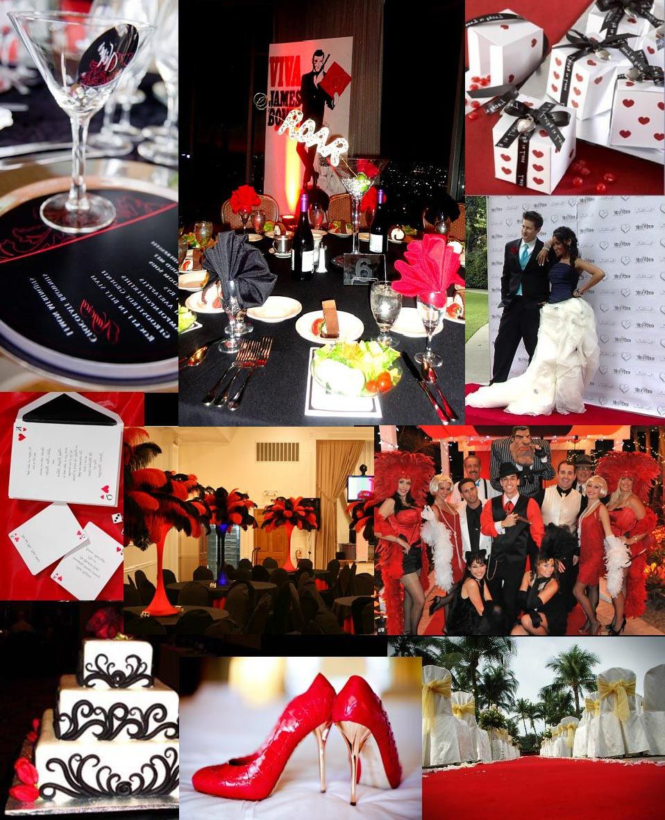 Isn't It Amazing? Red , Black, And White James Bond Theme