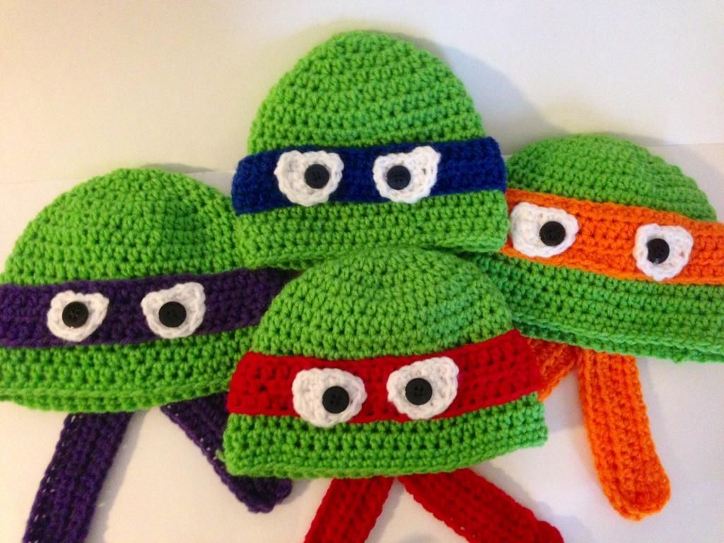 96f915b428e Ninja Turtle Hat Pattern - via  Craftsy I have got to learn how to do  this!!!