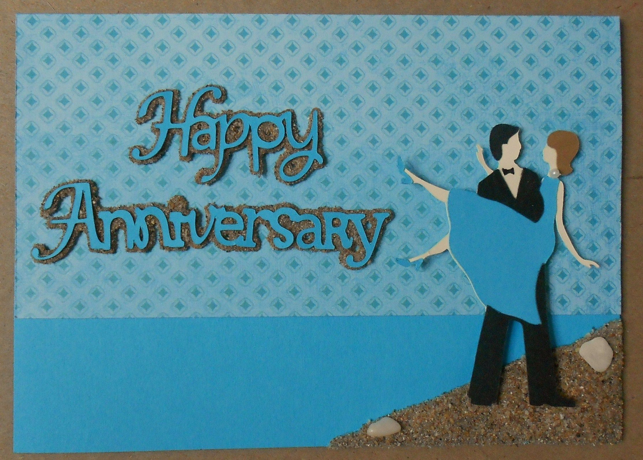 Special ordered anniversary card ..made with sweethearts cricut
