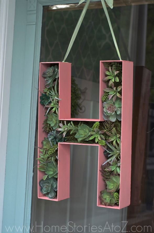 """3d Create Your Own Room: Door Decor: How To Make A 3D Wood Letter Monogram """"Wreath"""
