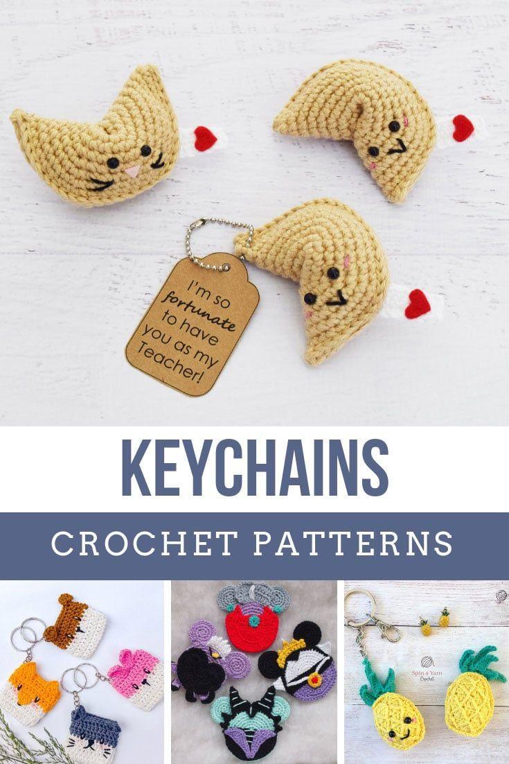 Ces modèles de porte-clés en crochet font des cadeaux faits à la main rapidement et facilement   – Crochet