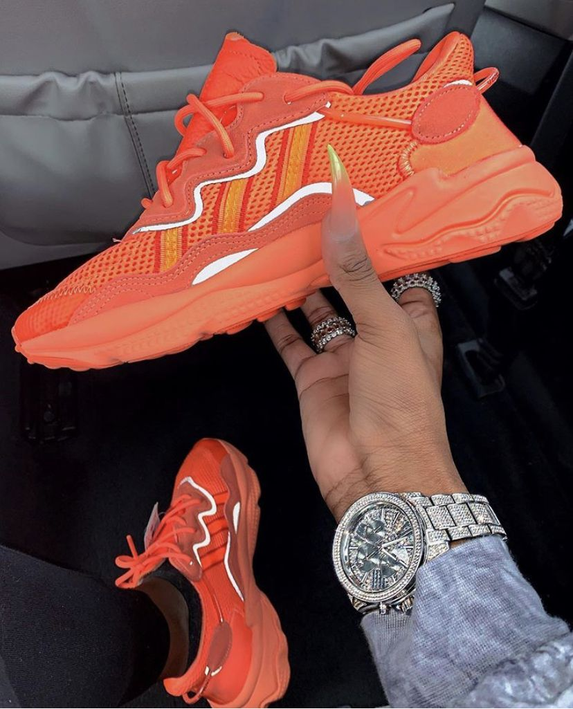 Ozweego adiPRENE Reflective Design Retro Running Shoes Liege