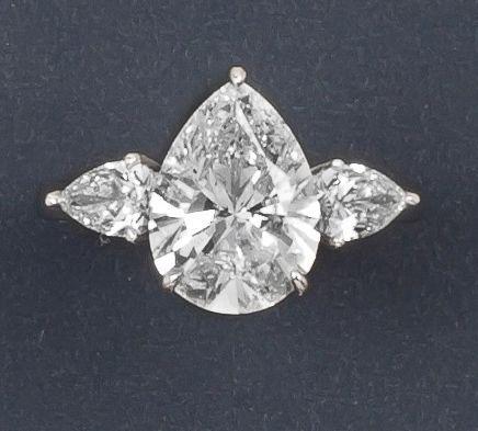 bague diamant en poire
