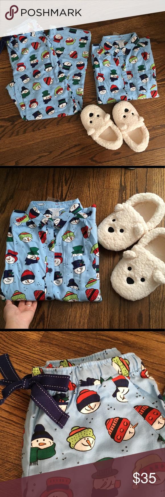 Snowman Pajamas Set Portuguese Flannel Sleep Sense Brand new with tag.  Portuguese Flannel. 100 c223bcf6d