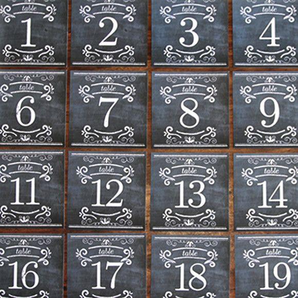 Printable Chalkboard Table Numbers Wedding Chalkboards Planning
