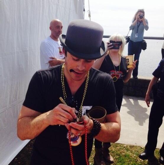 Ian Somerhalder at Mardi Paws, New Orleans (09/03/2014)