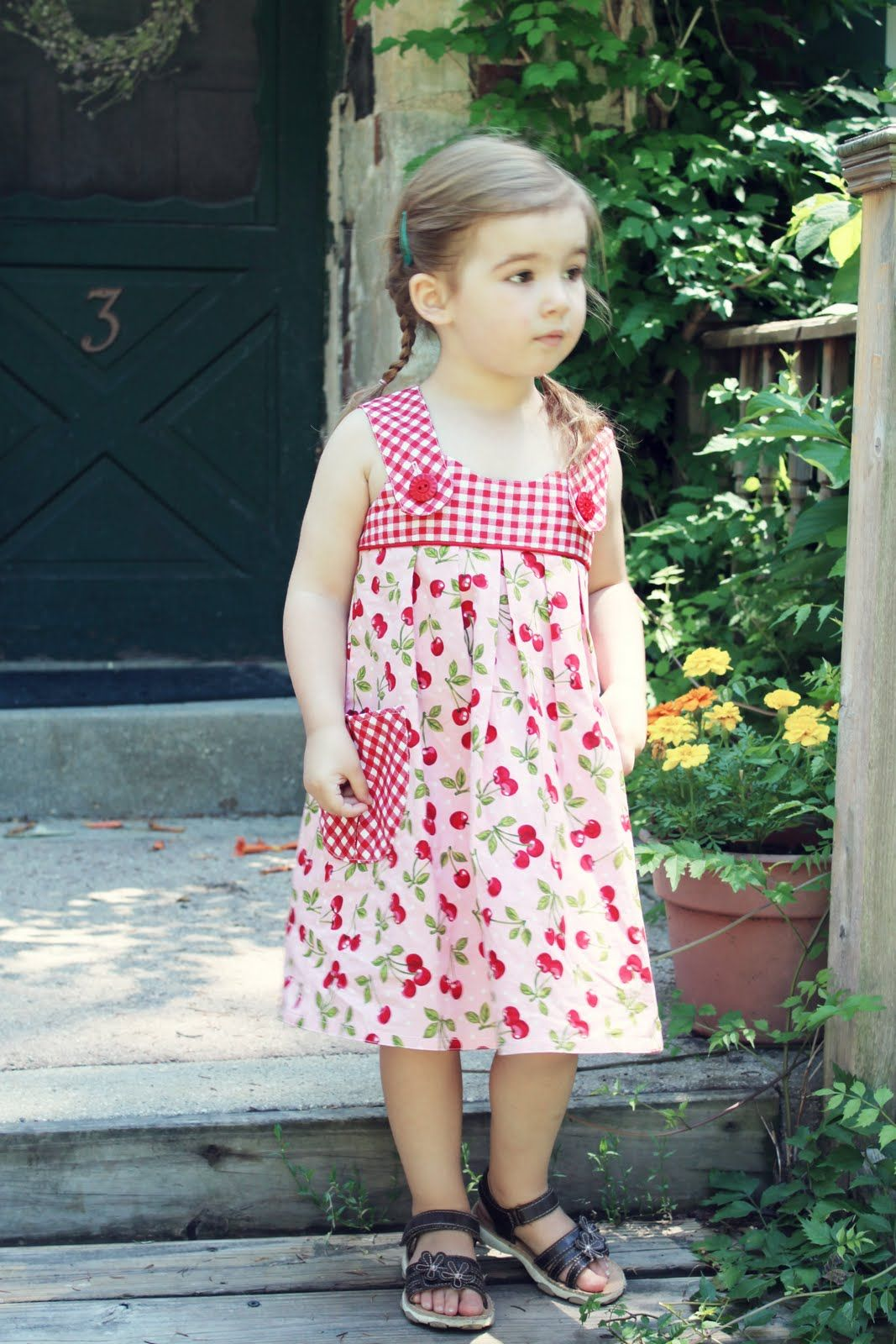 From Grandma With Love Cherry Picnic Dresses The Cottage Mama Picnic Dress Dresses Girl Outfits [ 1600 x 1067 Pixel ]