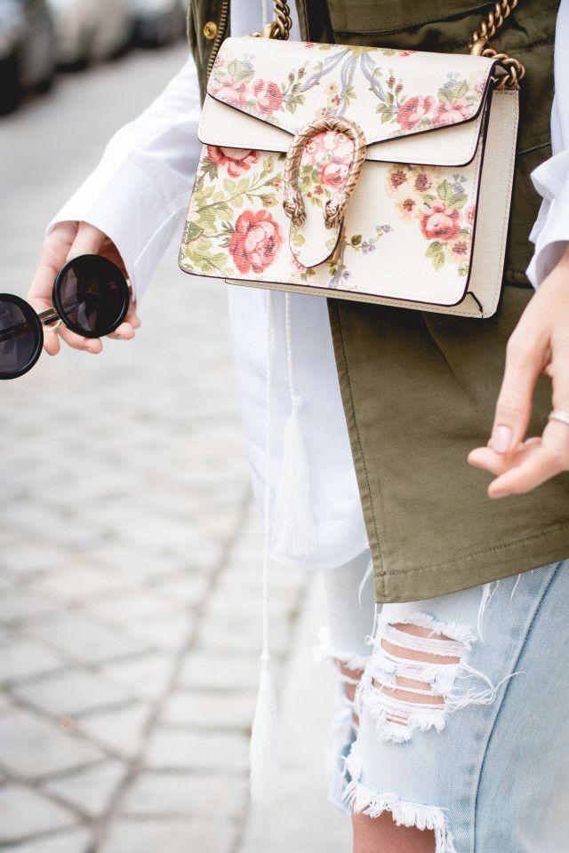 Gucci For Net A Porter Dionysus Mini Floral Print Bag Printed