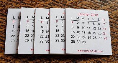 Mini Calendrier 2021 a Mini calendrier 2021  lot de 5 | Calendrier, Cartes de voeux