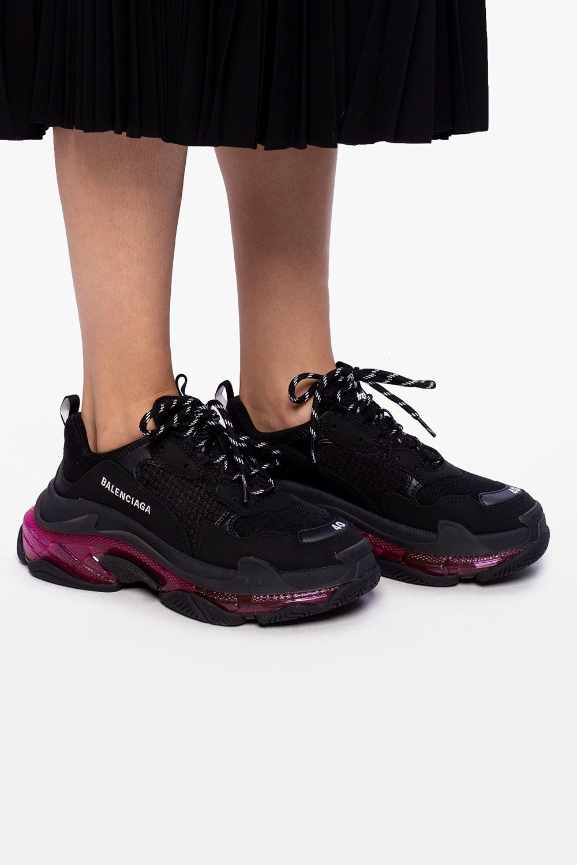 Balenciaga Buty Sportowe Triple S Balenciaga All Black Sneakers Shoes