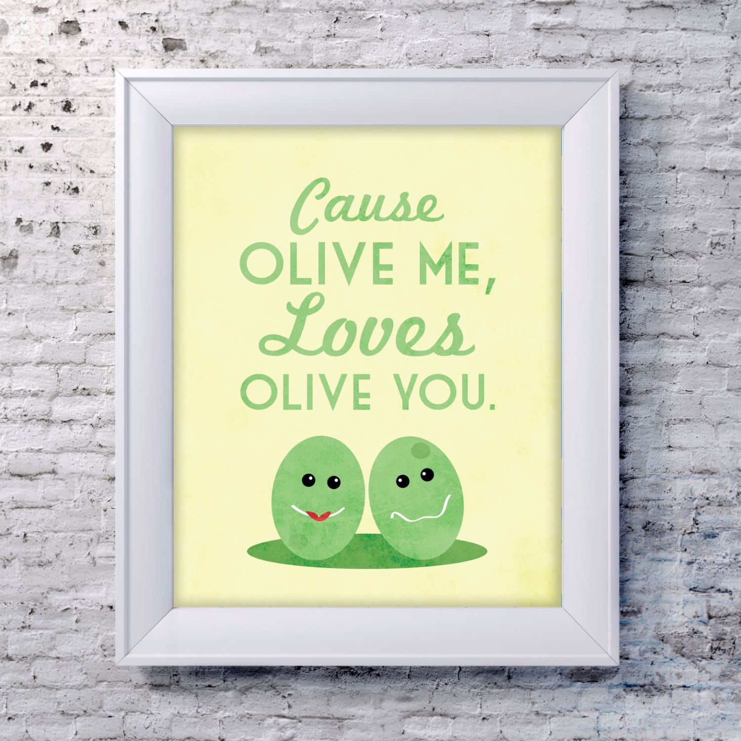Funny Kitchen Art Print Olive Quote Poster by SmartyPantsStudio