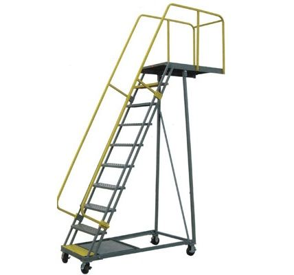 These Are Cantilever Rolling Ladders They Are Used To Access Hard To Reach Areas Rolling Ladder Platform Ladder Ladder