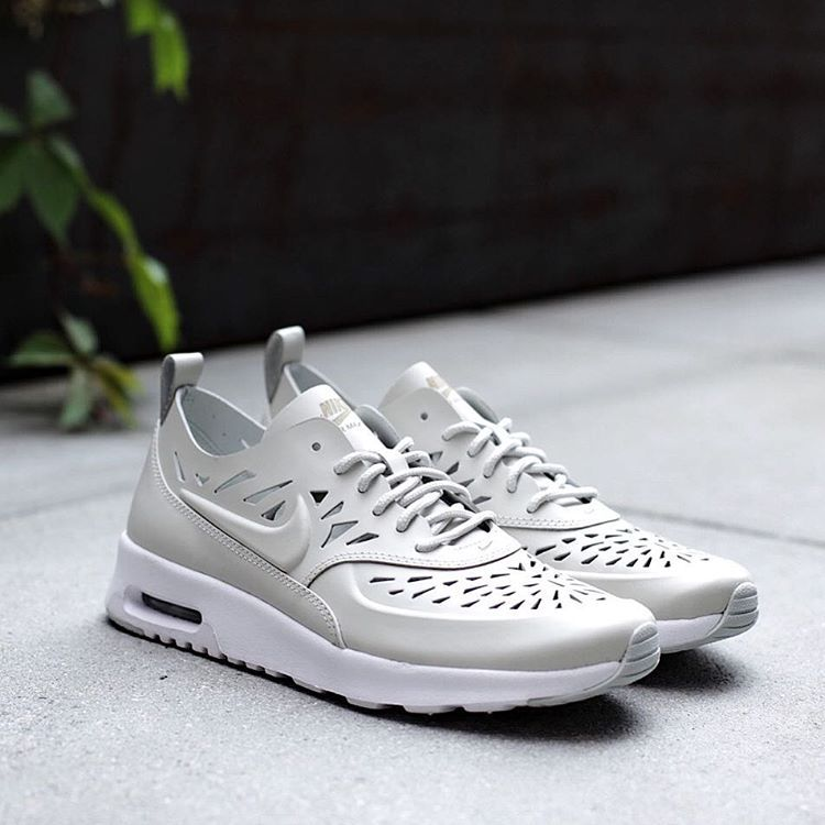 """2dd78ccb63 """"Nike Womens Air Max Thea Joli QS in gray and light bone is now available  at BAIT Seattle. $120. Available in U.S. Women's sizes 6 through 10. Phone  orders…"""