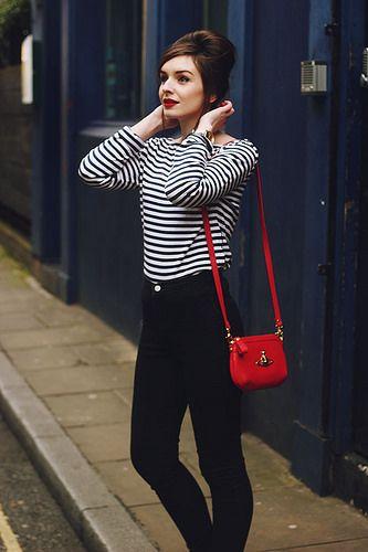Breton Striped Tee Shirt sixties beehive beatnik by What Olivia Did, via Flickr