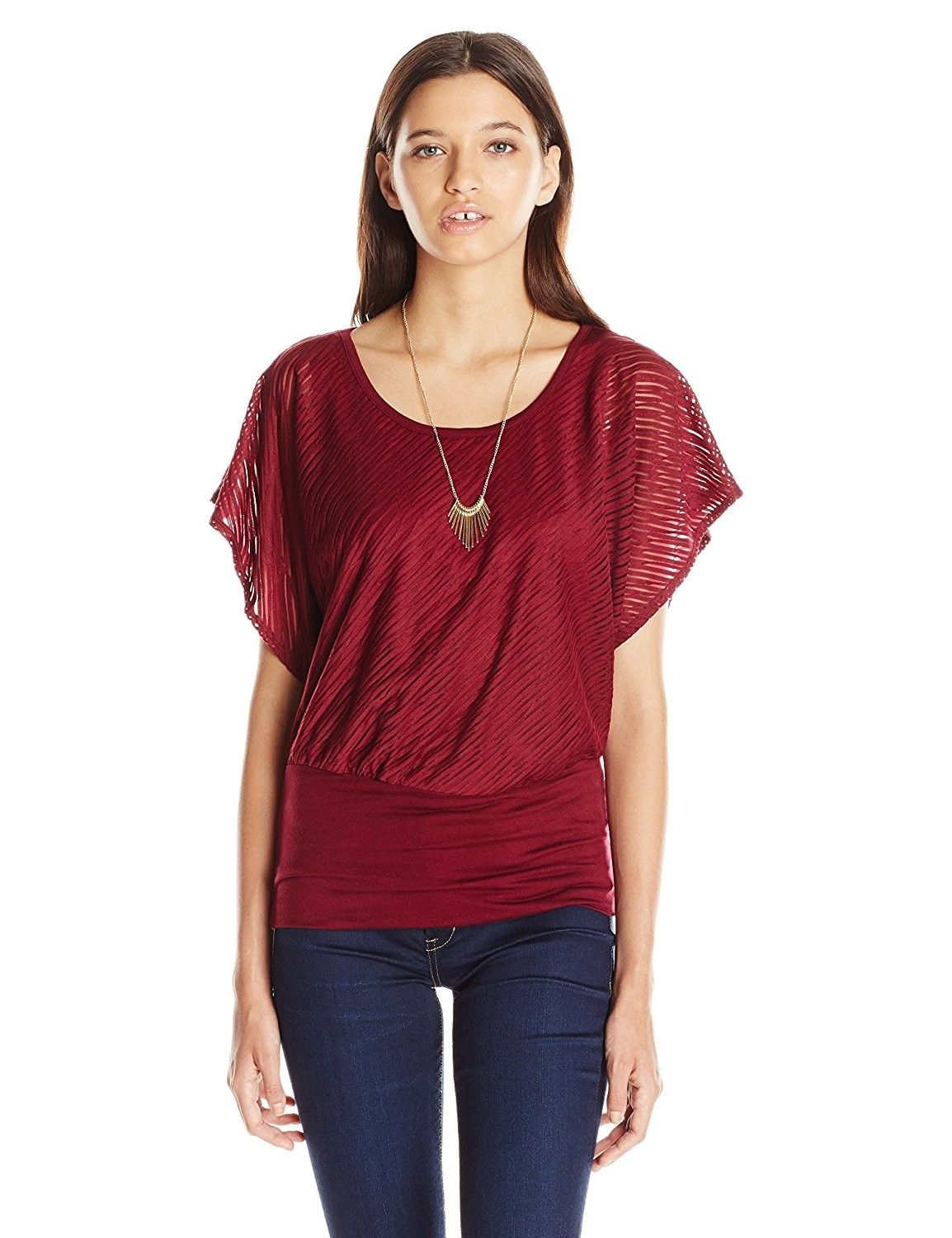 Banded bottom top womens