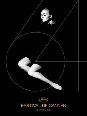 """France. Cannes Festival poster, 2011. In 2011, the poster featured a beautiful picture of Faye Dunaway taken by legendary photographer and director Jerry Schatzberg in 1970, six years before the star won the """"Best Actress"""" Academy Award for her performance in Network."""