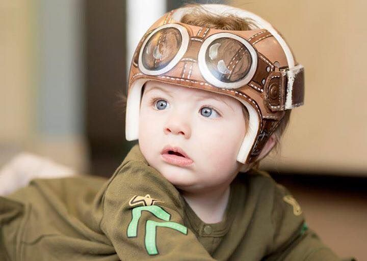 Aviator Style Band Cranial Band Starband Https Www Facebook Com Pages Cranial Bandsmurals By Leigh Gibson Baby Helmet Cranial Band Designs Boy Cranial Band