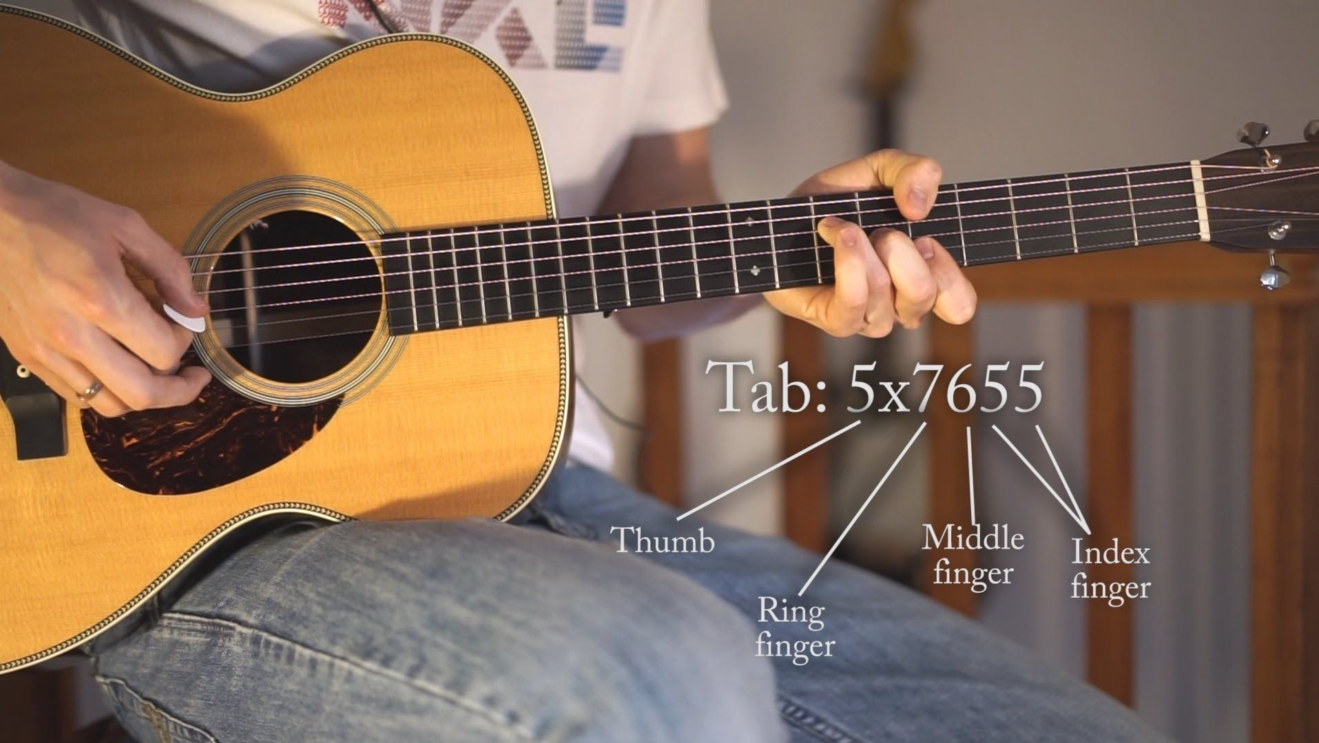 Beginner guitar lesson use your left hand thumb for