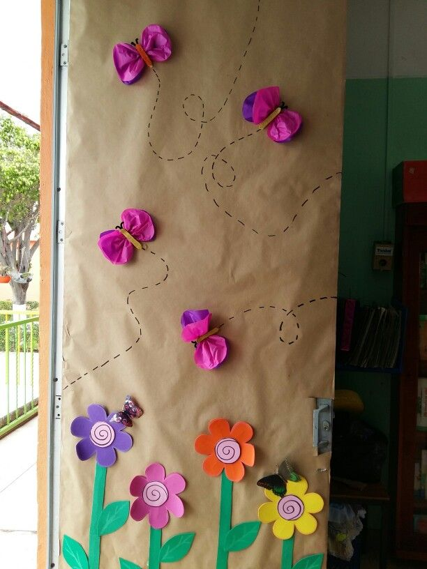 Primavera puertas y decoracion de aula pinterest for Decoracion primavera manualidades