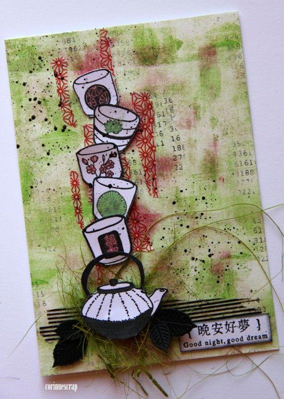 Épinglé par Minetourdi sur Thème du Thé   Carte invitation anniversaire, Scrapbooking idée ...