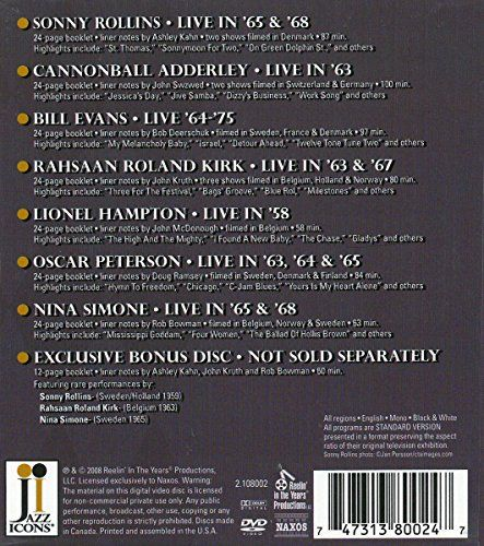 Jazz Icons: Series 3 (Eight-Disc Boxed Set)  http://www.videoonlinestore.com/jazz-icons-series-3-eight-disc-boxed-set/