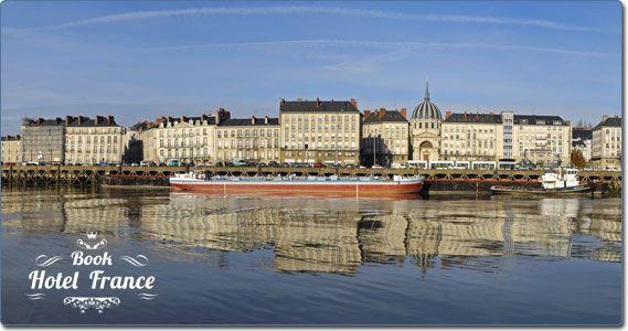 Panoramic view of Nantes, Pays de la Loire, France