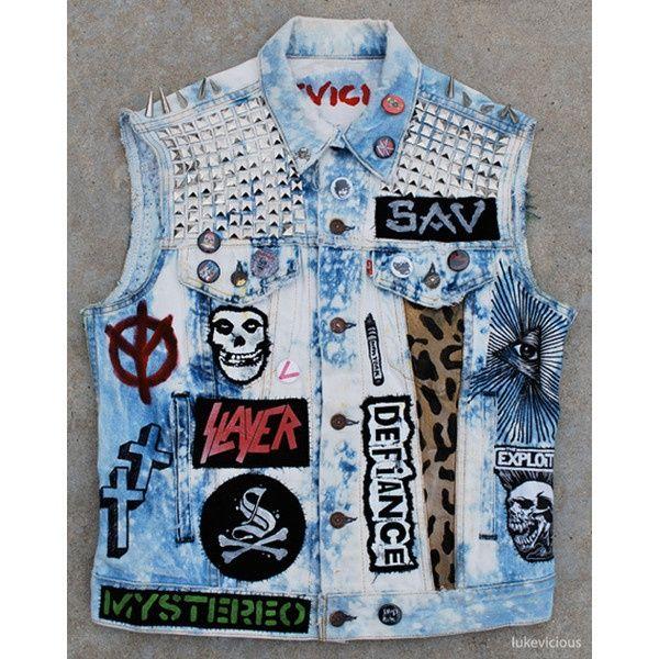Punk Jean Jacket Vest | Shoes/fashion | Pinterest | Punk jeans Jean jacket vest and Punk