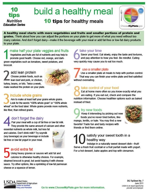 10 tips for healthy meals healthy eating tips pinterest explore healthy meats eating healthy and more 10 tips for healthy meals forumfinder Gallery