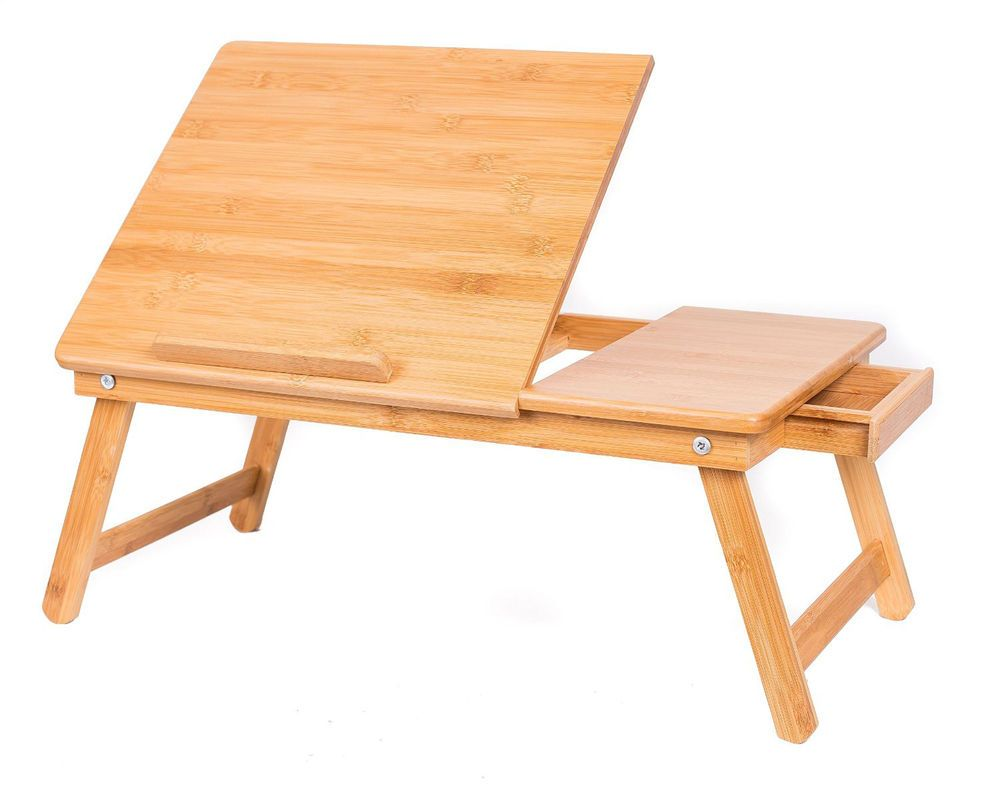 Portable Lap Desk Chair Wooden Work Table Portable TV Tray Lightweight NEW