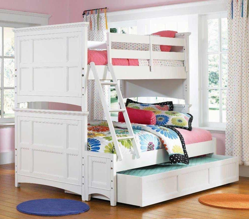 Serene Fresh Bunk Bed Decoration Idea For Teenage Girl