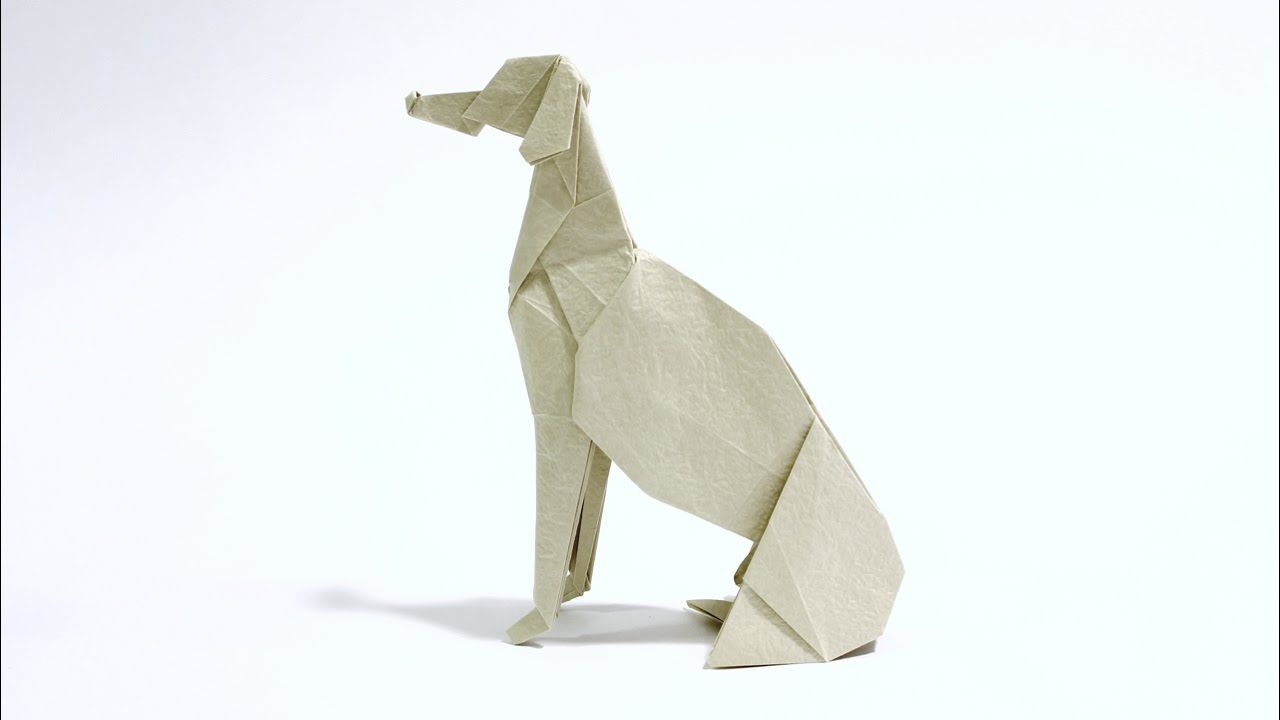 How to make an origami greyhound learn how to make a sitting how to make an origami greyhound learn how to make a sitting origami greyhound from jeuxipadfo Image collections