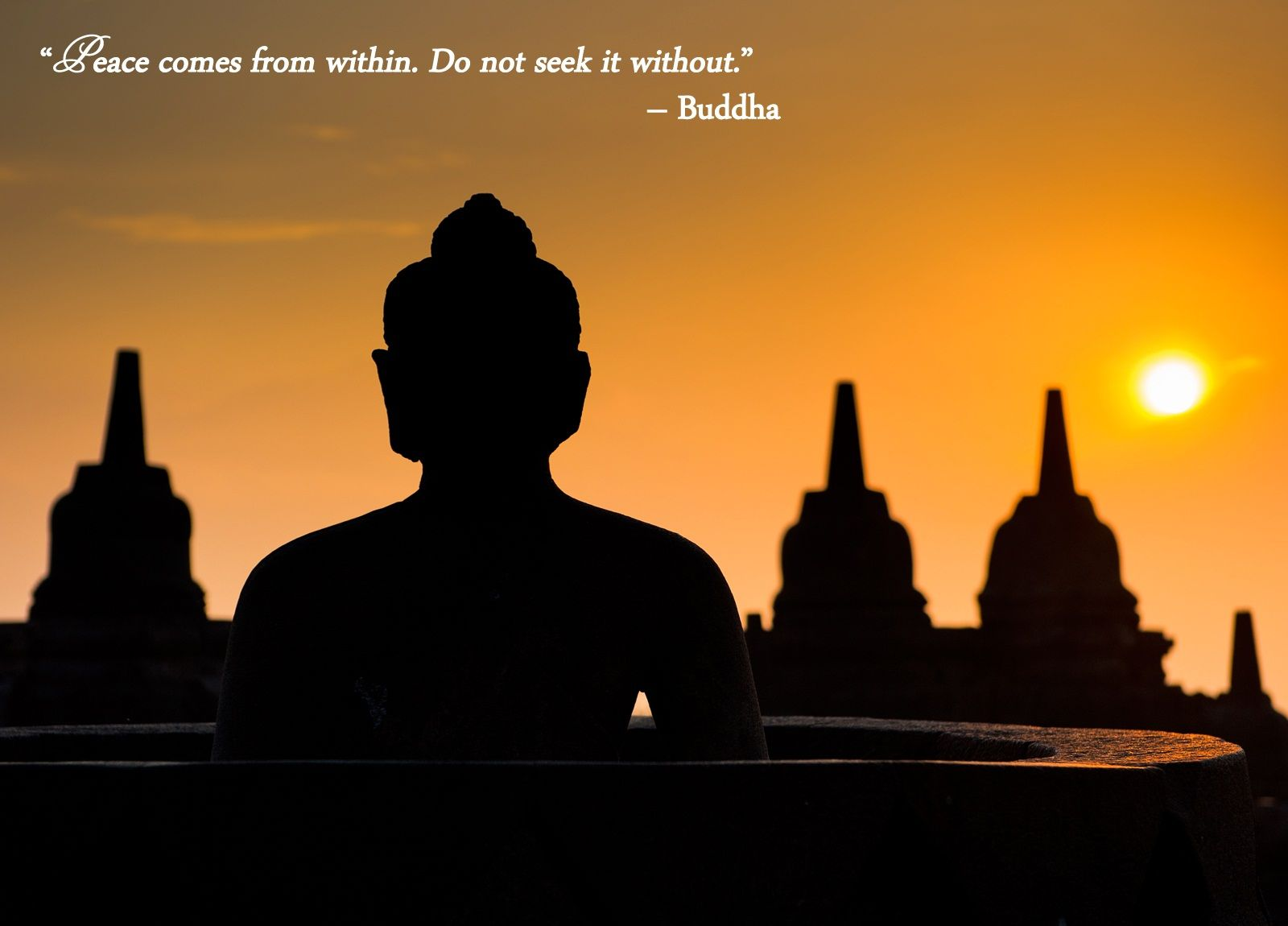 Perfect Positive Quote | Amazing Inspirational Quotes Peace Comes From Within Do  Not Seek It ..