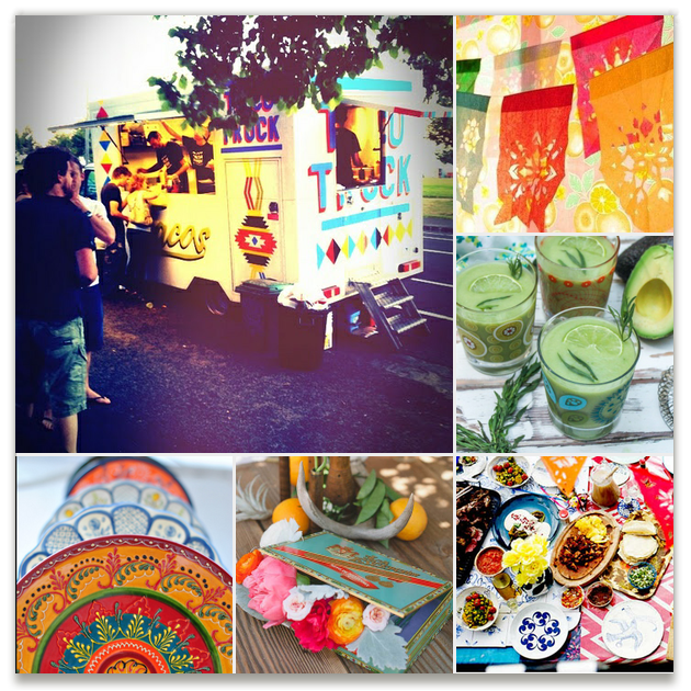 Taco Truck Party Inspiration Board, curated by Vanessa Wolfe at Minted