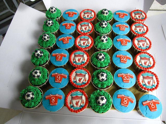 Img 2176 Liverpool Cake Cupcake Birthday Cake Lfc Cake