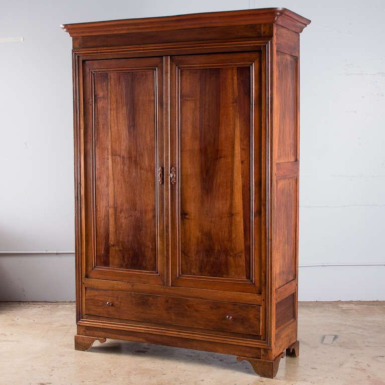 Louis Philippe Period Walnut Armoire From A Unique Collection Of