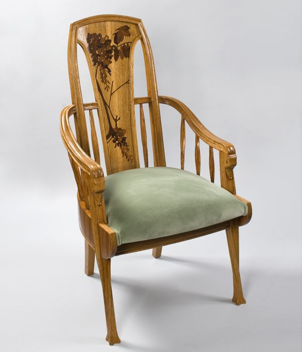 French Art Nouveau Armchair By Majorelle.Circa: 1900