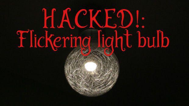 Hacked Flickering Light Bulb For Halloween Flickering Lights Halloween Lights Light Bulb