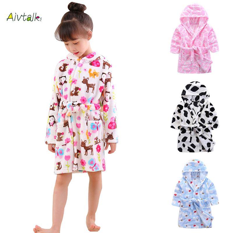 86d202817d Aivtalk 2017 Children s Robes for 3-7Yrs Baby Kids Pajamas Boys Girls  Cartoon Sleepwear Bathrobes