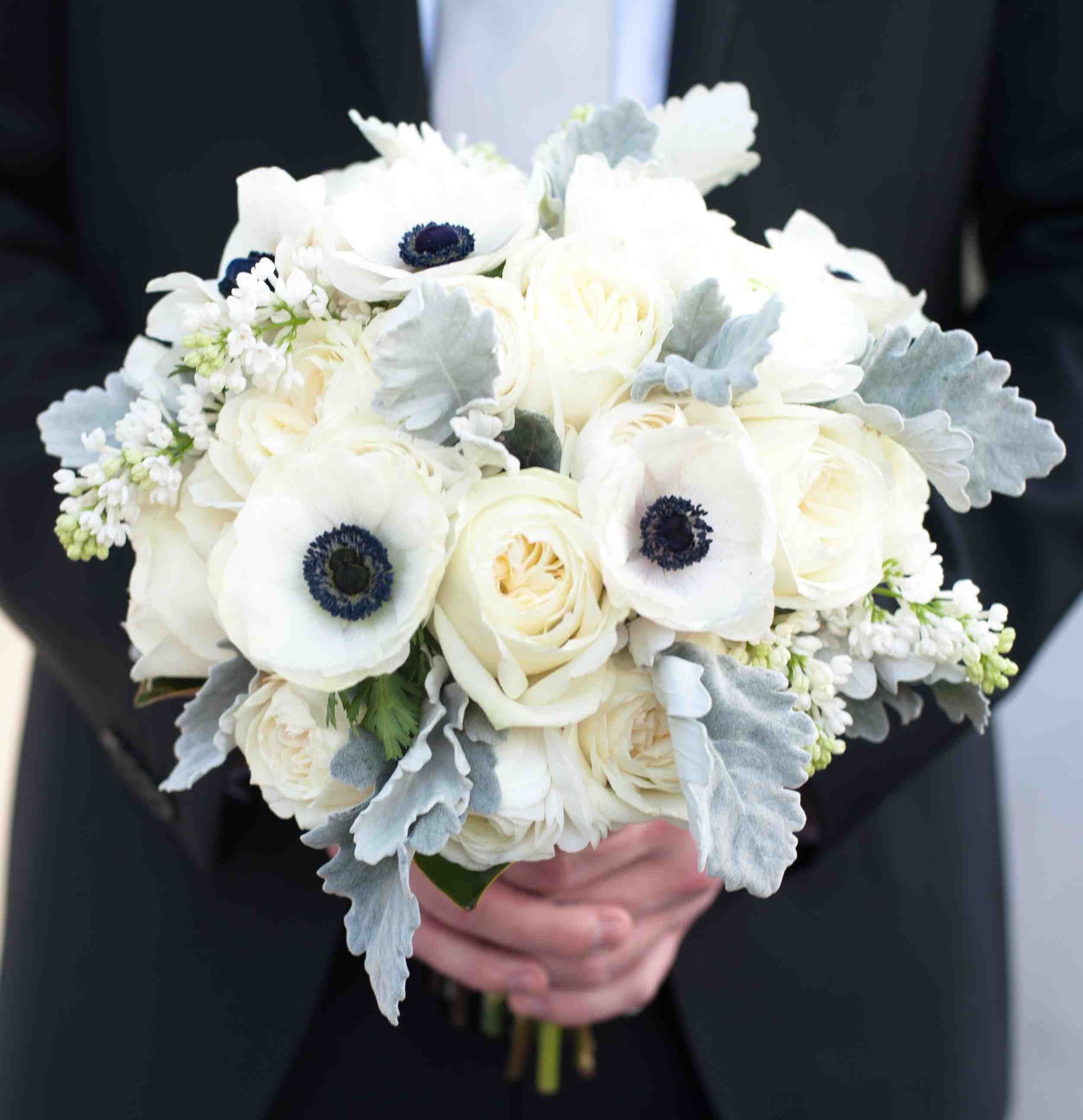 Wedding Trend Using Anemone Flowers In Decor Blue Wedding