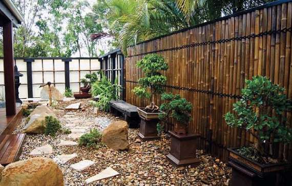Bamboo Reed Fence Architectural Design
